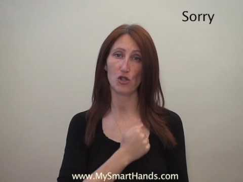 sorry - ASL sign for sorry