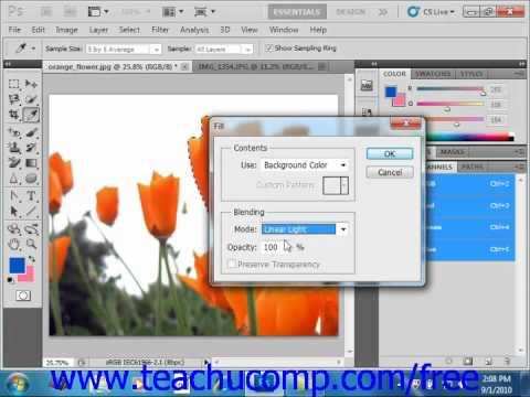 Photoshop CS5 Tutorial Applying Fills Adobe Training Lesson 8.1