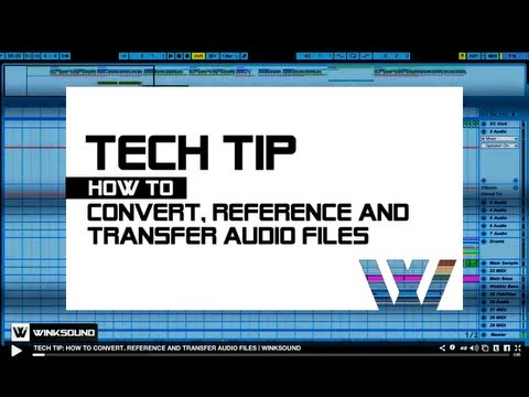 Tech Tip: How To Convert, Reference And Transfer Audio Files   WinkSound