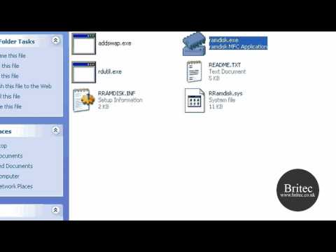 Setup Free Ramdisk for Windows Vista, XP, 2000 and 2003 Server by Britec