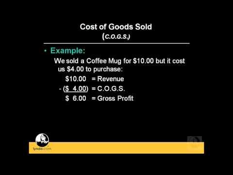 QuickBooks Pro: Understanding the cost of goods sold | lynda.com