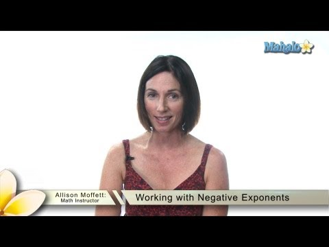 Working with Negative Exponents