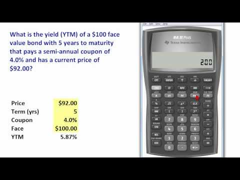 TI BA II+ to compute bond yield (YTM)