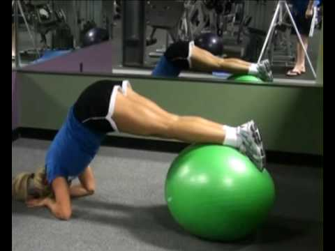 Reverse Jackknife on Resistance Ball : BeYourTrainer.com