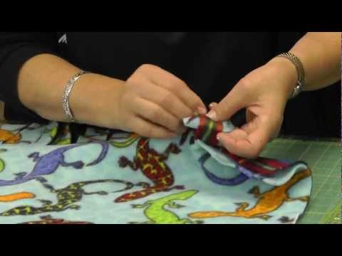 No Sew Tie Blanket Tutorial