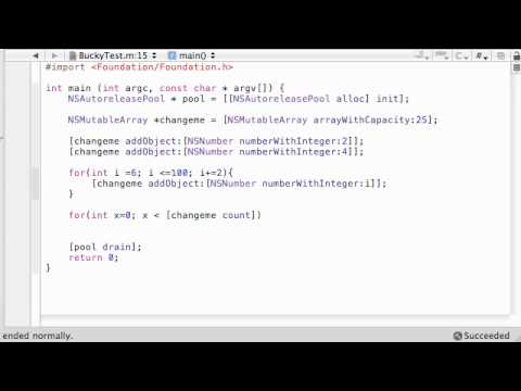 Objective C Programming Tutorial - 58 - Mutable Arrays