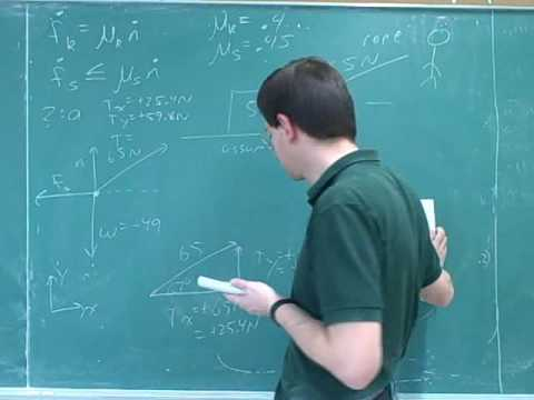 Physics: Using Newton's second law (13)