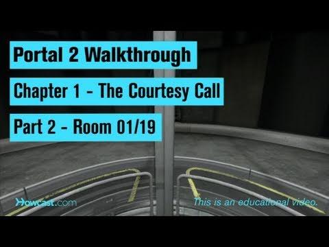 Portal 2 Walkthrough / Chapter 1 - Part 2: Room 01/19