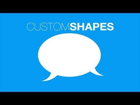 Photoshop Basics: Creating Custom Shapes