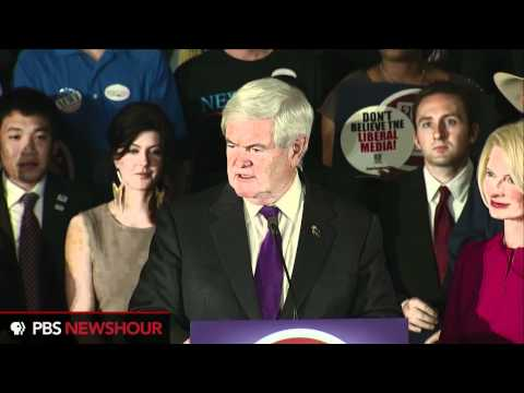 Watch Newt Gingrich's Full Speech After Ala., Miss. Primaries