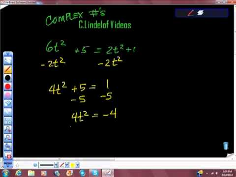 Using Complex Numbers The Imaginary Number i