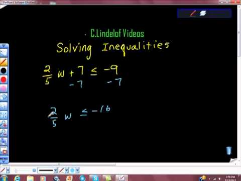 Solving Linear Inequalities Pt II COLLEGE MATH