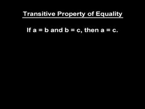 Transitive Property of Equality - YourTeacher.com - Math Help