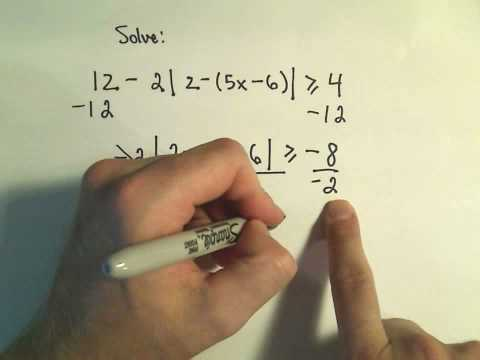 Solving Absolute Value Inequalities, MORE Examples - Example 2