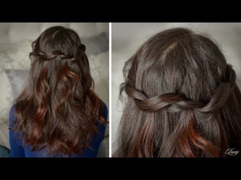 Twisted Waterfall Hairstyle