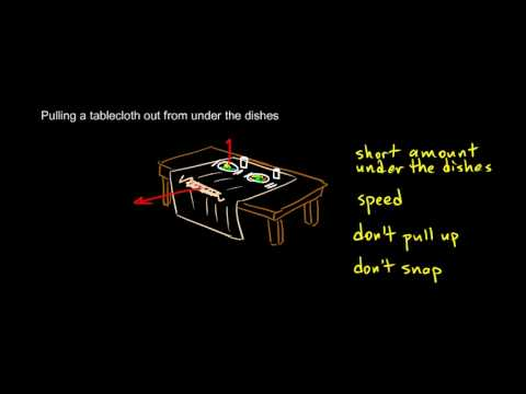 Physics 4.2.2b - How To Yank a Tablecloth