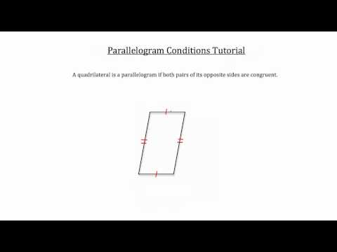 Parallelogram Conditions
