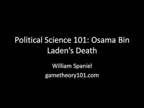 Political Science 101: The Death of Osama Bin Laden
