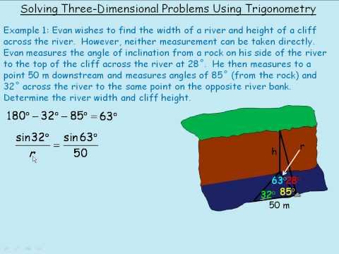 Solving 3 Dimensional Problems Using Trigonometry