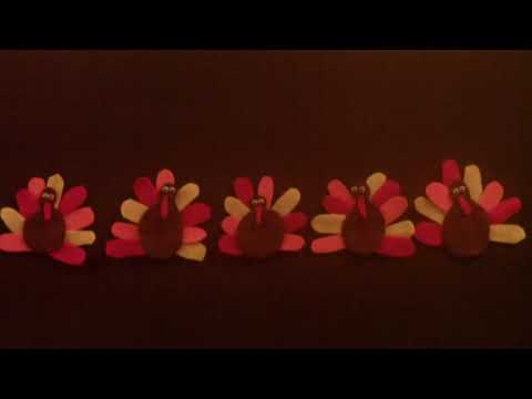 Thanksgiving songs for Children - 5 Little Turkeys - Littestorybug