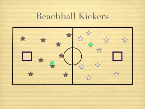 P.E. Games - Beachball Kickers