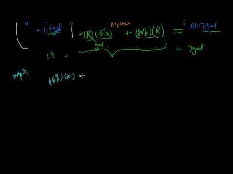 Solution to Algebra Word Problem - Mixture