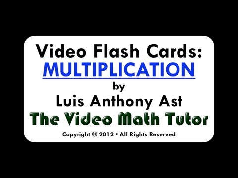 Video Flash Cards: Multiplication by 1