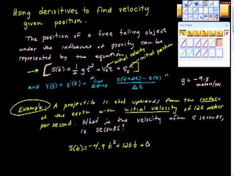 Using the Derivative to find Velocity Two