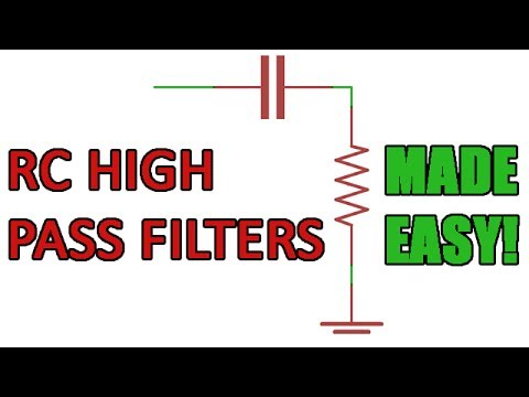 Passive RC high pass filters