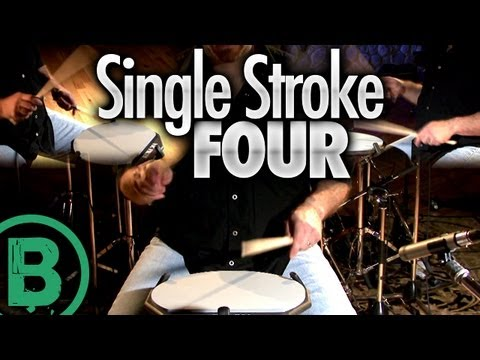 Single Stroke Four - Drum Rudiment Lessons