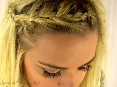 Quick & Easy French Braided Fringe/Bangs ~ Lauren Conrad Style