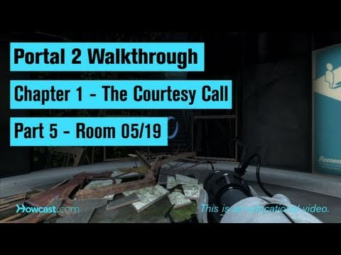 Portal 2 Walkthrough / Chapter 1 - Part 5: Room 05/19