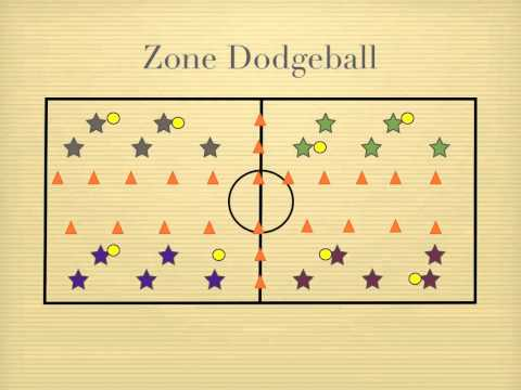 Physical Education Games - Zone Dodgeball