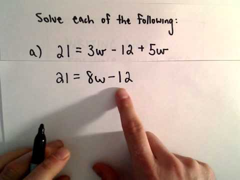 Solving Multi - Step Linear Equations