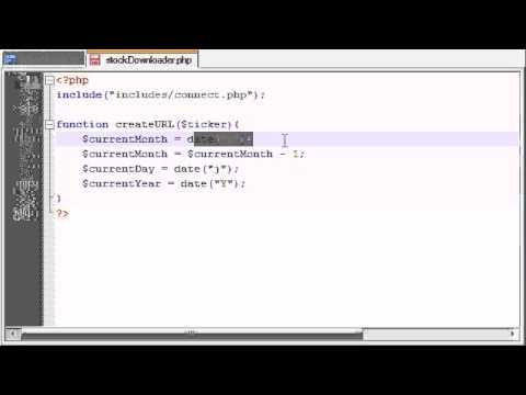 PHP Stock Market Analyzer - 5 - Creating a Custom URL