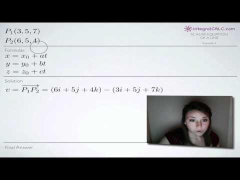 Scalar Equation of a Line Example 4