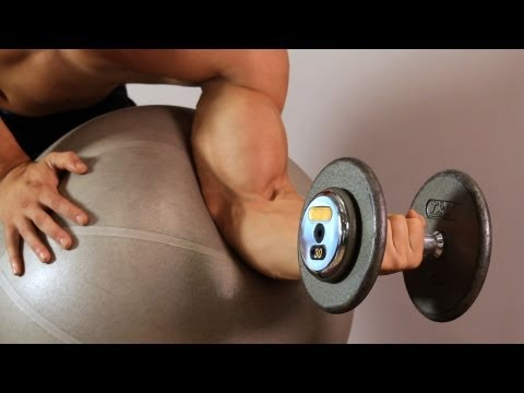 Swiss Ball Preacher Curl | Home Arm Workout for Men