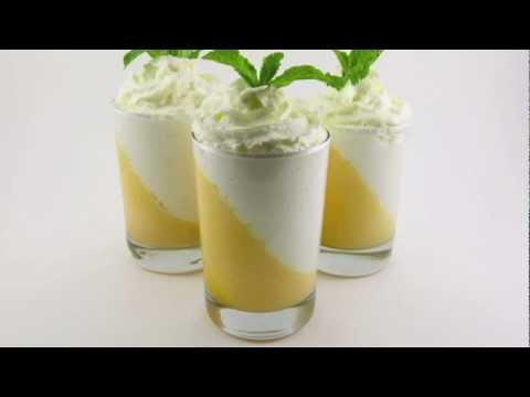 Peaches and Cream Mousse Parfaits