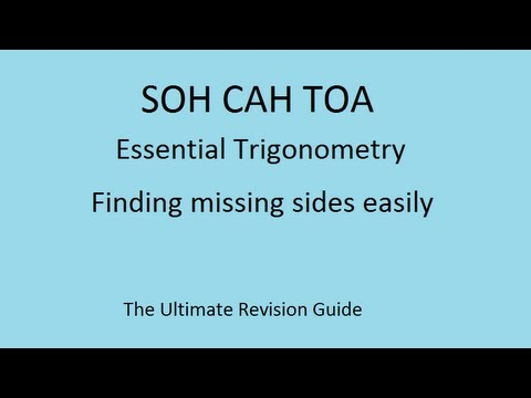 SOHCAHTOA - the trick to finding a missing side in maths