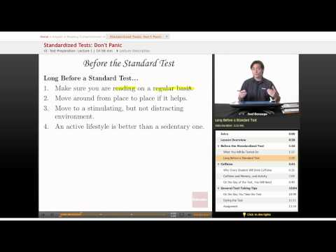 Reading Comprehension: Standarized Tests - Don't Panic