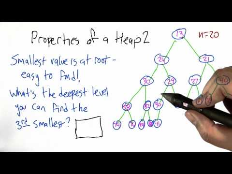 Properties of a Heap Solution - Algorithms - Statistics - Udacity