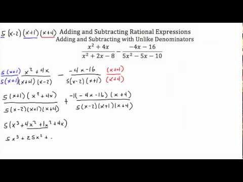 Rational Expressions -Adding and Subtracting  PT 2-Textbook Tactics
