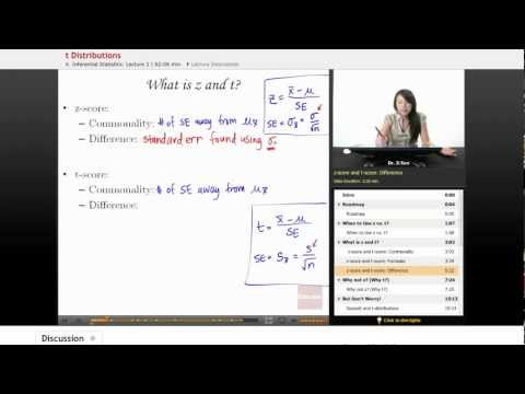 Statistics: T vs Z Distributions