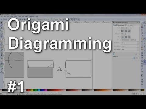 Origami Diagramming #1 - Inkscape basics (squares, lines, arrows, commands, tools)