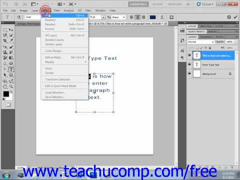 Photoshop CS5 Tutorial Selecting Text Adobe Training Lesson 11.3