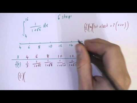Trapezium rule example 4