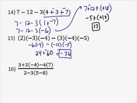Order of Operations Examples