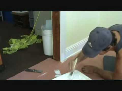 Painting a door casing