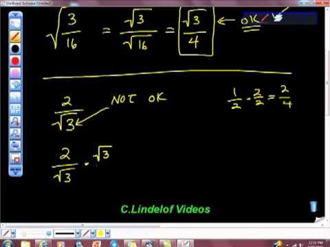 Rationalizing the Denominator College Algebra