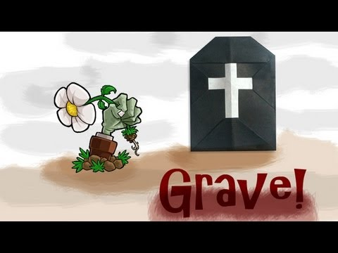Origami Daily - 041: Halloween Grave With a Cross - TCGames [HD]
